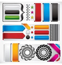 Set of web design elements vector image