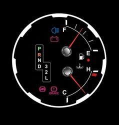 car dashboard vector image vector image