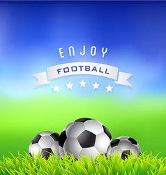 Enjoy Football Time Background vector image