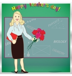 Happy teacher day Template for card vector image