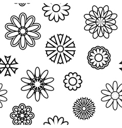 Seamless pattern with silhouettes of flowers vector image vector image