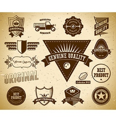 Vintage labels Collection 13 vector image