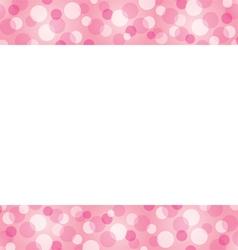Bokeh Frame Decoration vector image