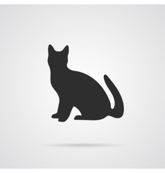 Gray Silhouette of Cat vector image vector image