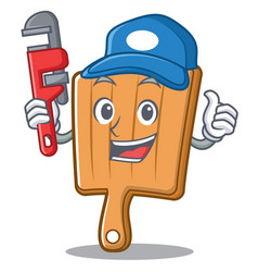 plumber kitchen board character cartoon vector image vector image