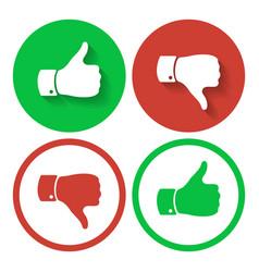 thumb up and down symbols human hand icon vector image