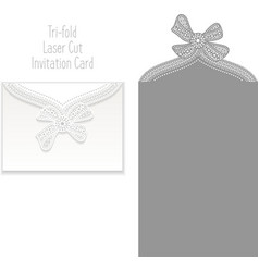 Tri fold Laser Cut Invitation Card vector image vector image
