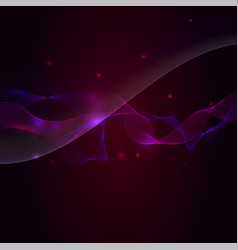 Abstract smooth wave light and sparkle on dark vector