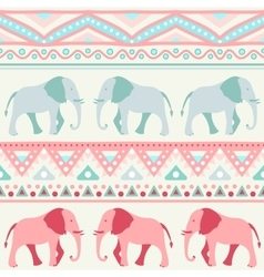 Animal seamless pattern of elephant vector image