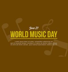 Art world music day style vector