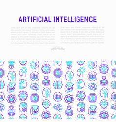Artificial intelligence concept vector