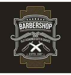 Barbershop emblem signage vector