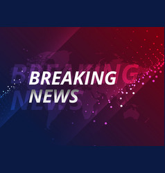 Breaking news design concept for tv broadcasting vector