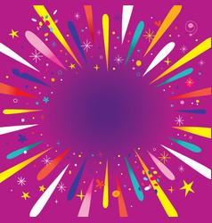 burst explosion vector image
