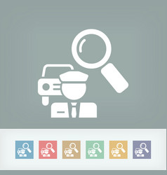 Car-pooling concept icon vector