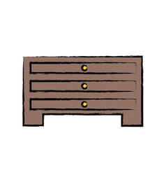 Chest drawers icon vector