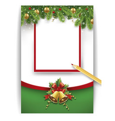 christmas letter to santa with place for text vector image