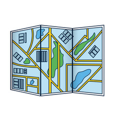 city map folded vector image