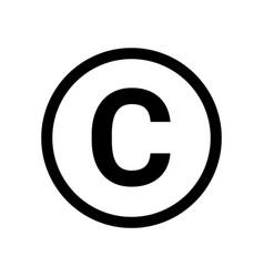 copyright symbol icon logo copyright sign vector image