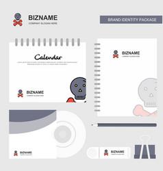 danger logo calendar template cd cover diary and vector image