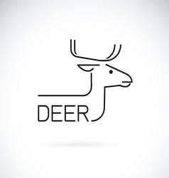 Deer design vector