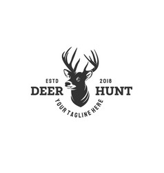 deer hunt logo design vintage logo designs vector image