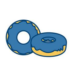 delicious donuts dessert vector image