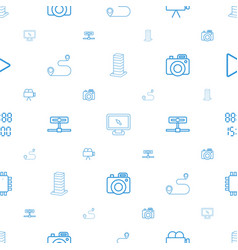 digital icons pattern seamless white background vector image