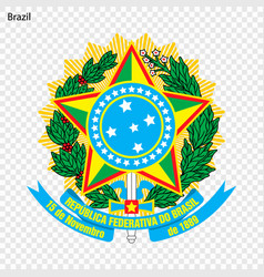 Emblem of brazil vector