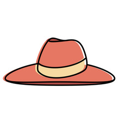 female beach hat icon vector image vector image