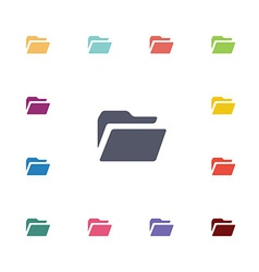 folder flat icons set vector image