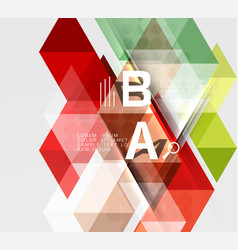 futuristic triangle tile background with options vector image