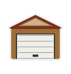 Garage icon Repair and home design vector