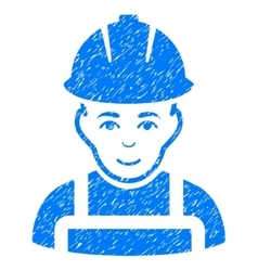 Glad Worker Grainy Texture Icon vector