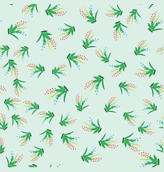 Green grass seamless pattern for your design vector