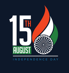 greeting on occasion indias independence vector image