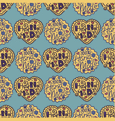 handmade needlework craft seamless pattern sewing vector image