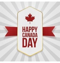 Happy canada day greeting badge vector