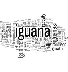 Iguanas ecology vector