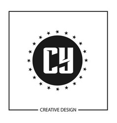 Initial letter cy logo template design vector