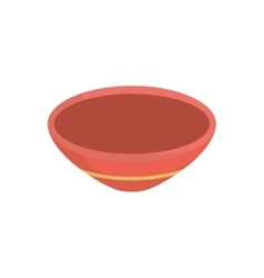 Isolated deep dish vector