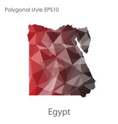 Isolated icon egypt map polygonal geometric vector