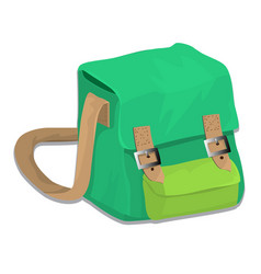 isolated of school bag vector image