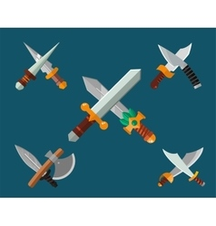Knifes weapon collection vector image