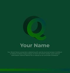 Logotype alphabet 3d logo letter q monogram logo vector