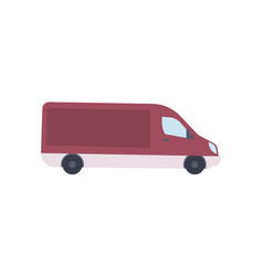 modern van truck side view icon vector image