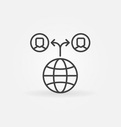 Outsourcing line icon modern symbol vector