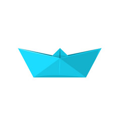 Paper ship made in origami technique vector