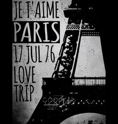 paris - a city love and romanticism vector image