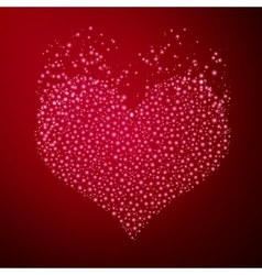 Particle heart vector image